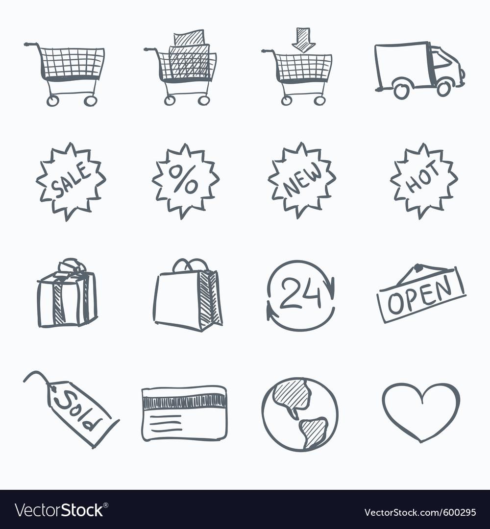 Sketch icon set vector | Price: 1 Credit (USD $1)