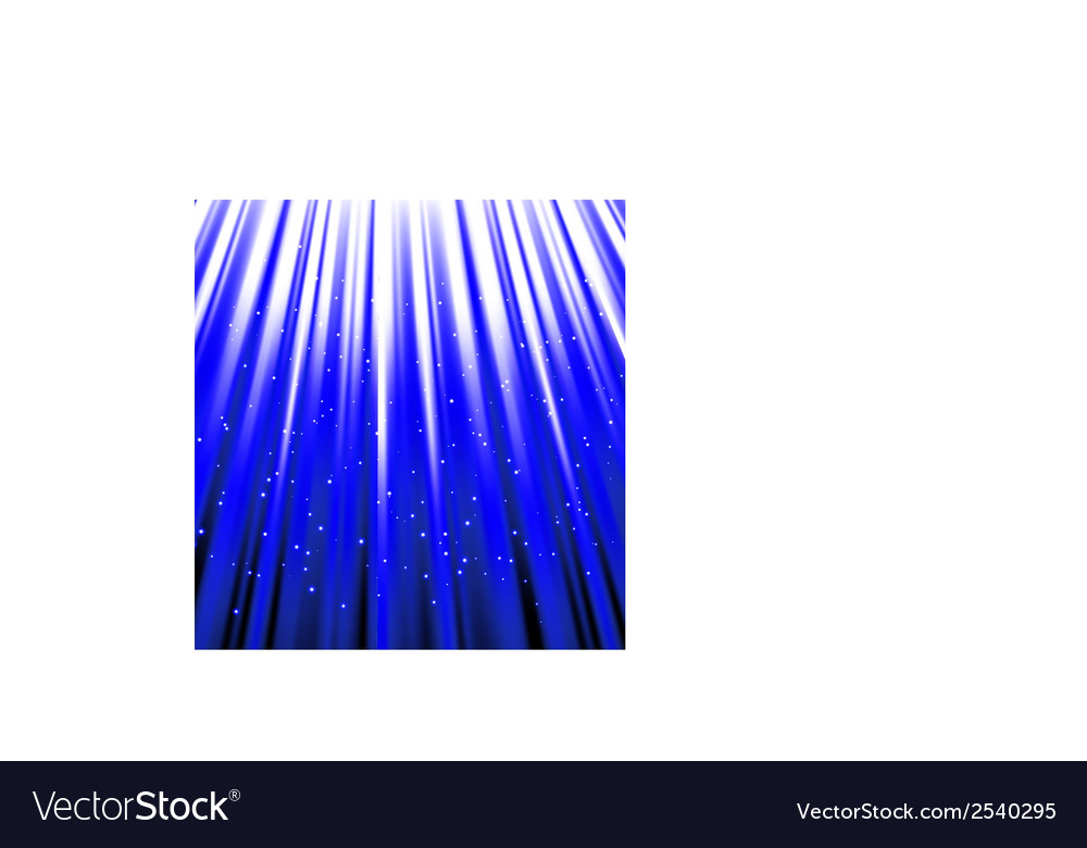 Stars are falling on the background of blue rays vector | Price: 1 Credit (USD $1)