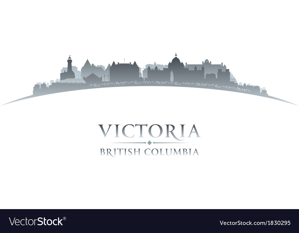 Victoria british columbia canada city skyline silh vector | Price: 1 Credit (USD $1)