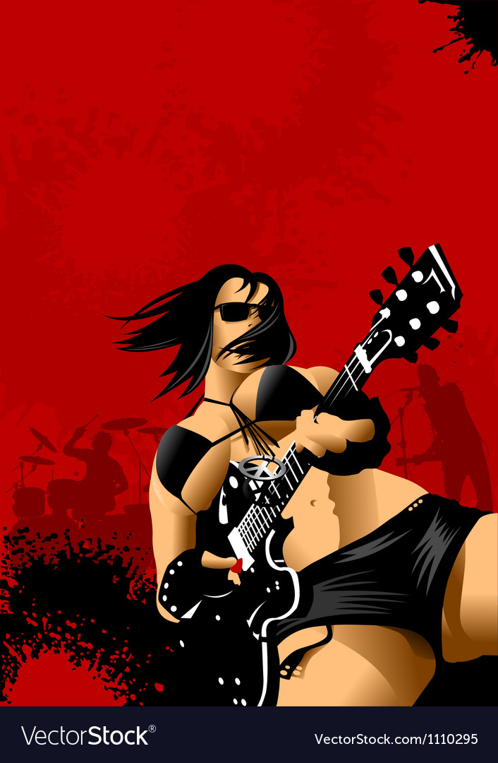 Woman in the punk rock vector | Price: 1 Credit (USD $1)