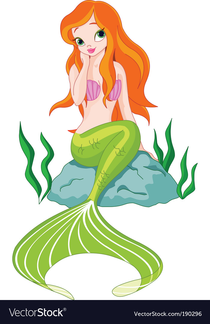 Beautiful mermaid vector | Price: 1 Credit (USD $1)