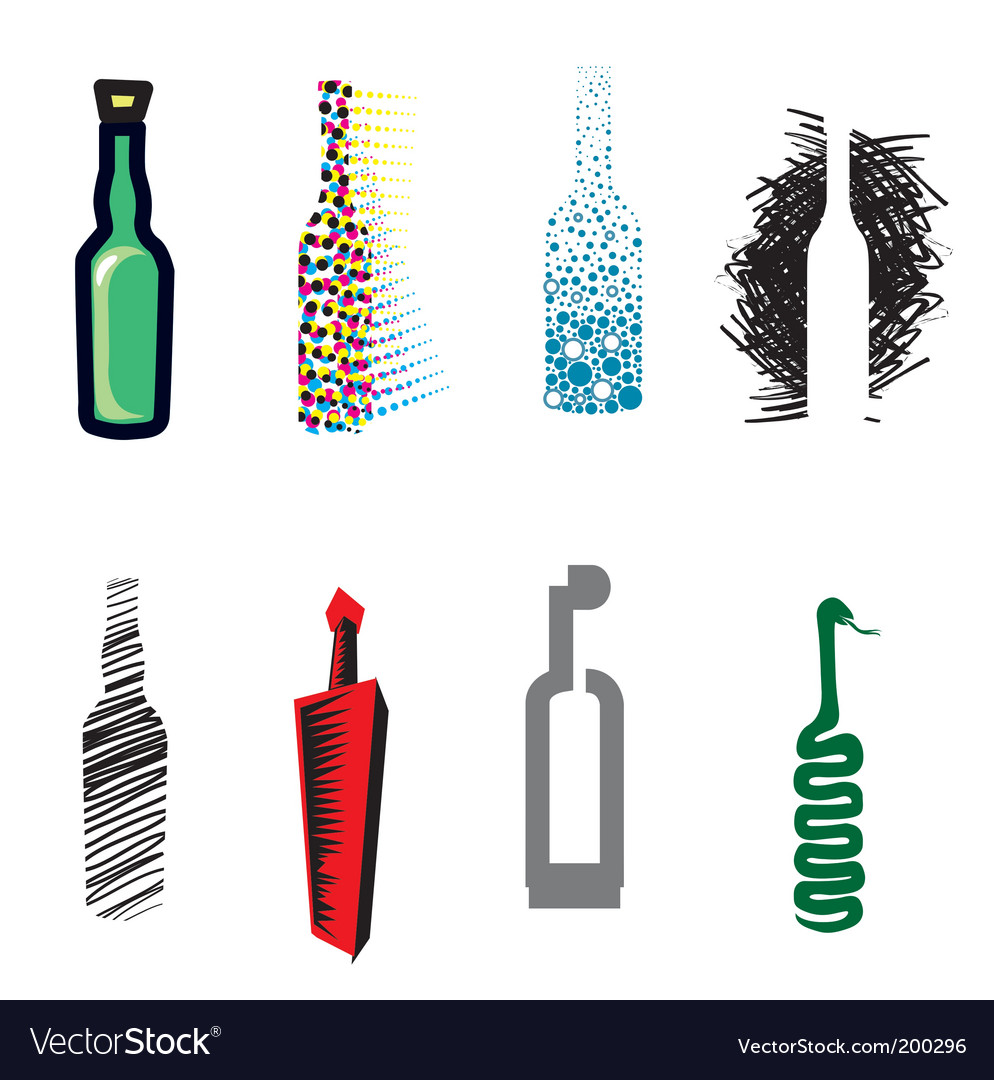 Bottle web icons vector | Price: 1 Credit (USD $1)