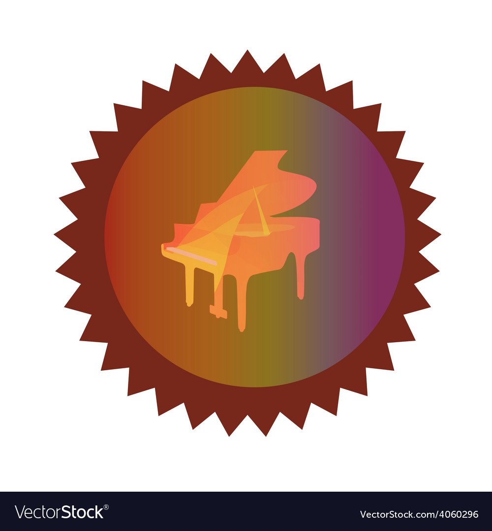 Icon with grand piano vector | Price: 1 Credit (USD $1)