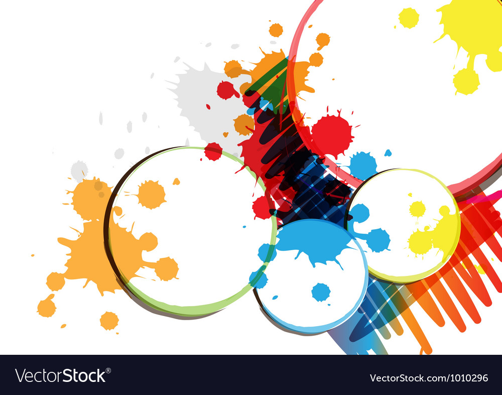 Ink paint banner design vector | Price: 1 Credit (USD $1)