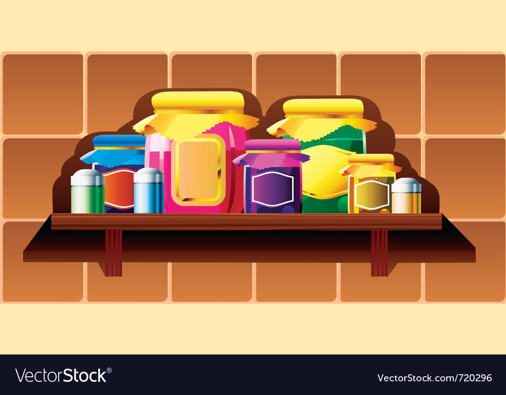 Kitchen shelf vector | Price: 1 Credit (USD $1)