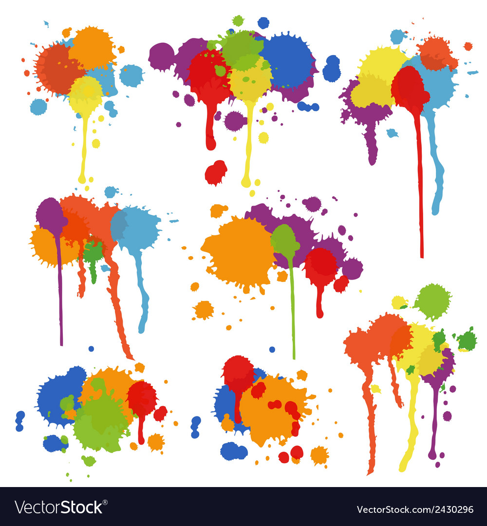 Set of multicolored stains and blots vector | Price: 1 Credit (USD $1)