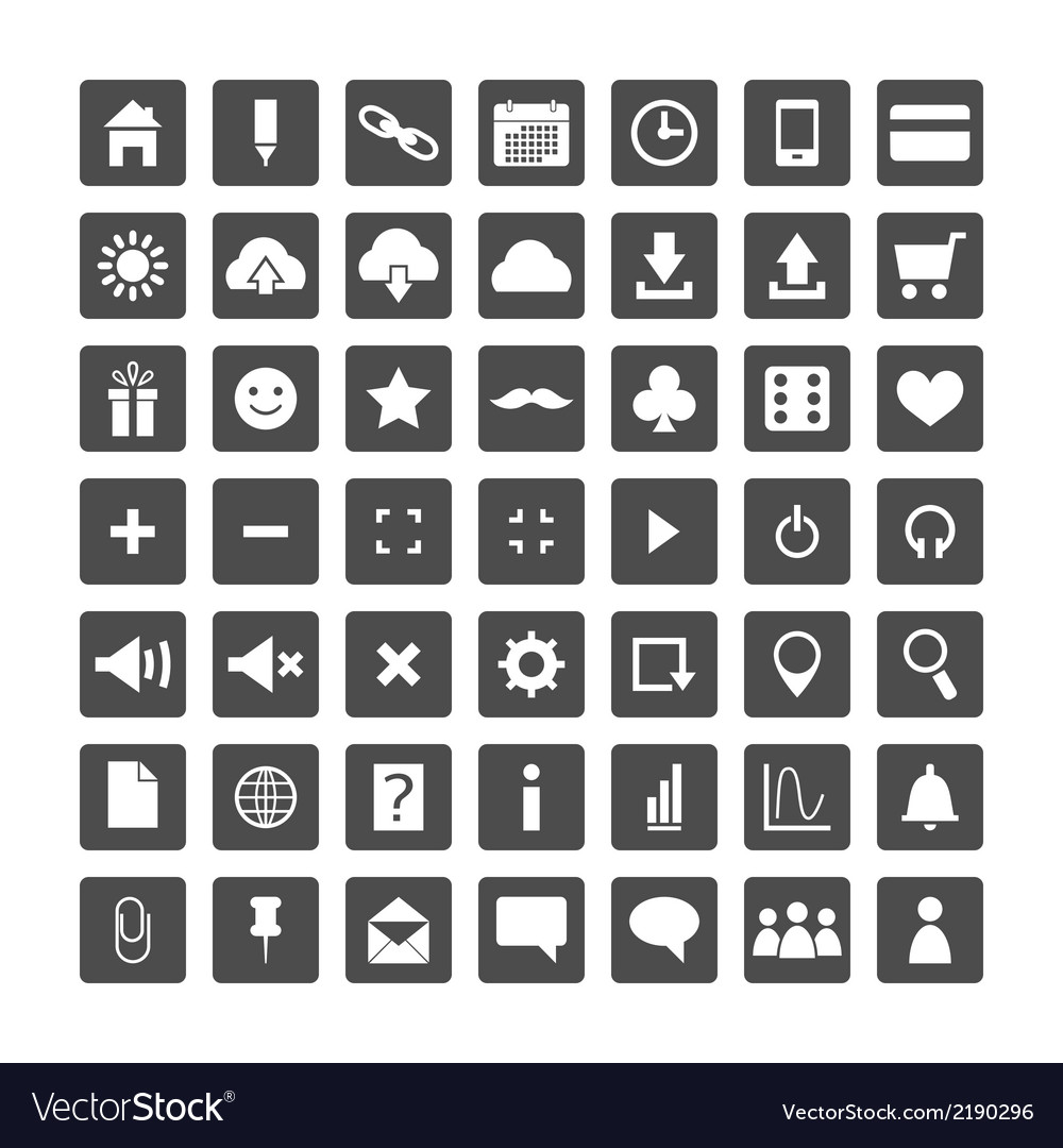 Set of web icons for business and communication vector | Price: 1 Credit (USD $1)