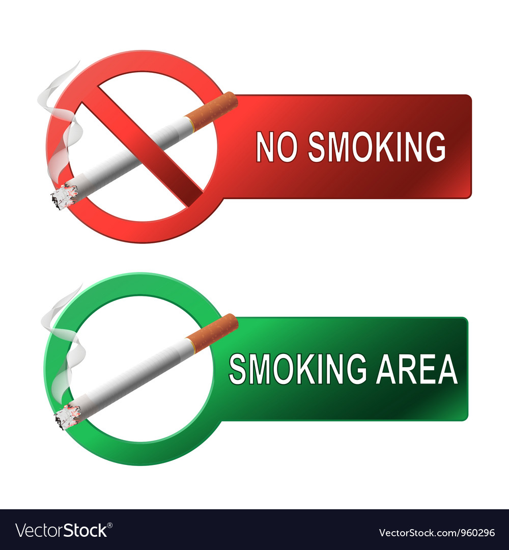 The sign no smoking and smoking area vector | Price: 1 Credit (USD $1)