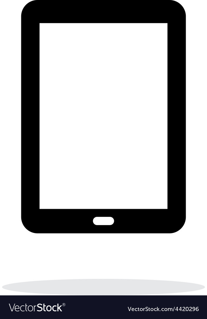 Tablet pc screen simple icon on white background vector | Price: 1 Credit (USD $1)