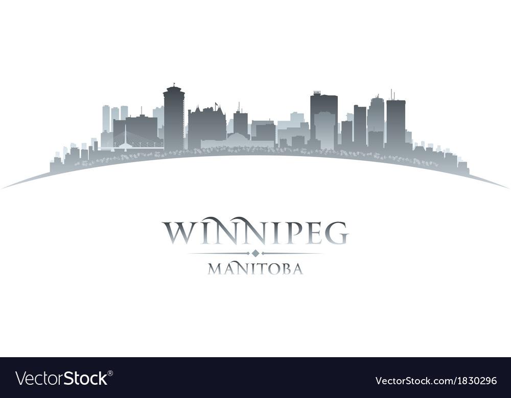 Winnipeg manitoba canada city skyline silhouette vector | Price: 1 Credit (USD $1)