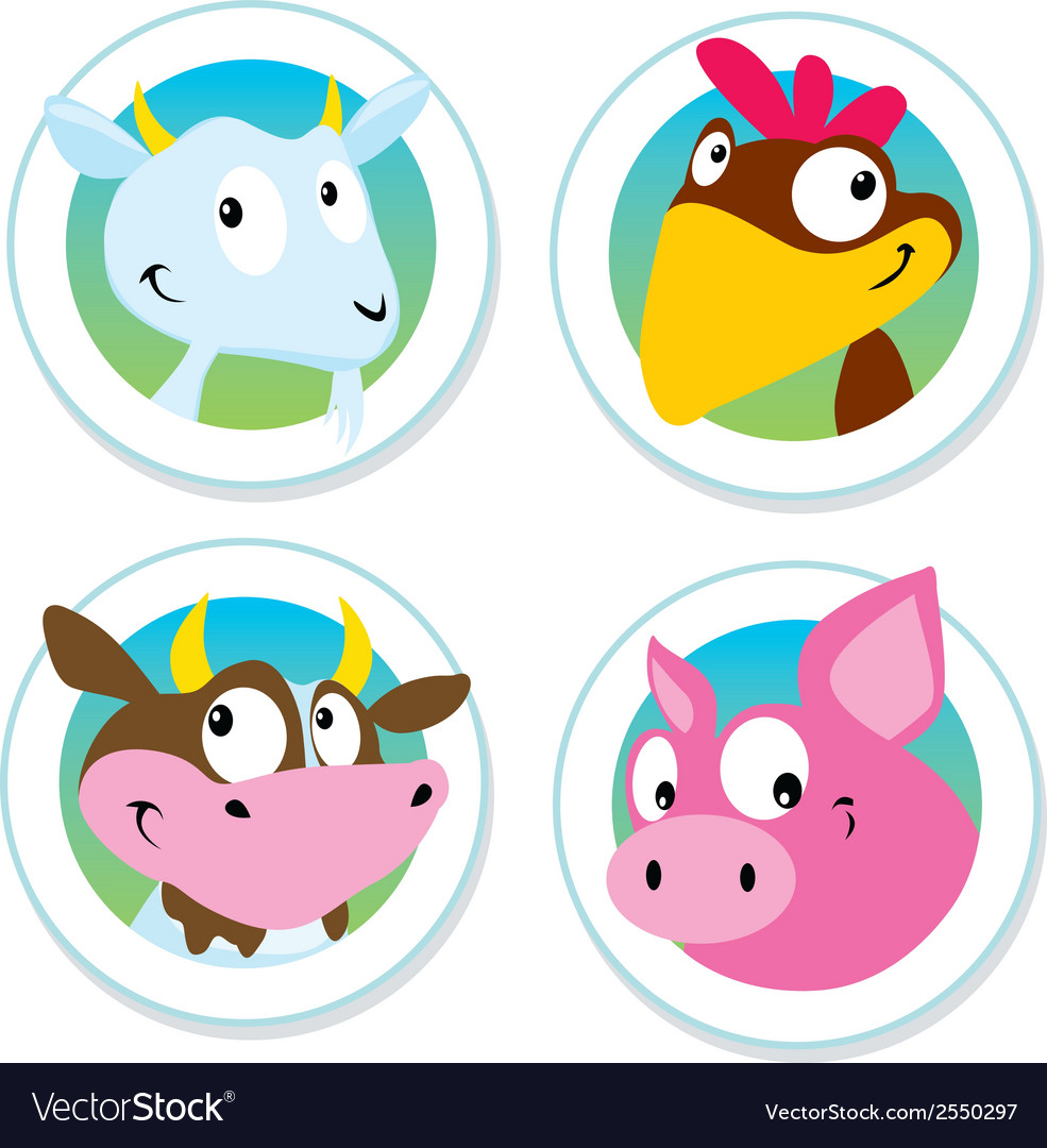 Animal farm label vector | Price: 1 Credit (USD $1)