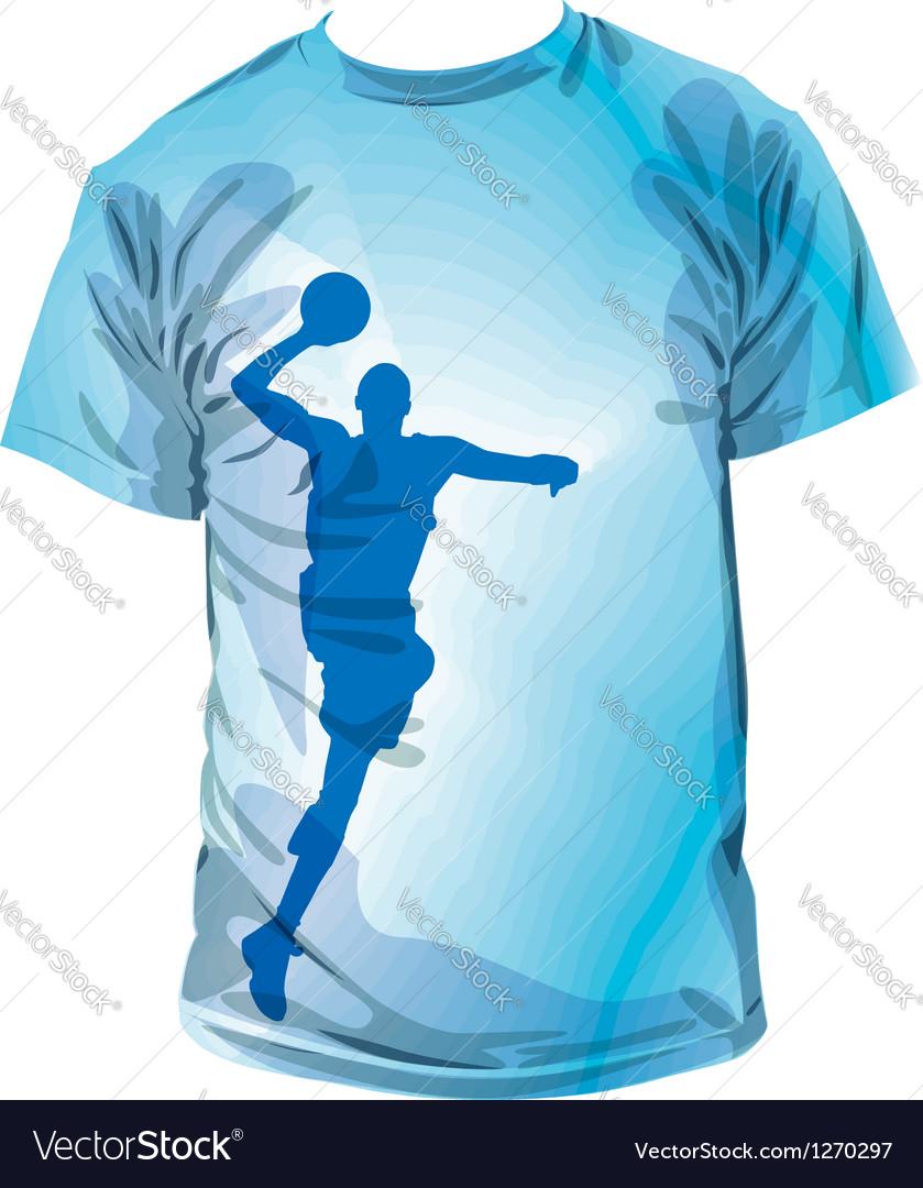 Basketball t-shirt vector | Price: 1 Credit (USD $1)