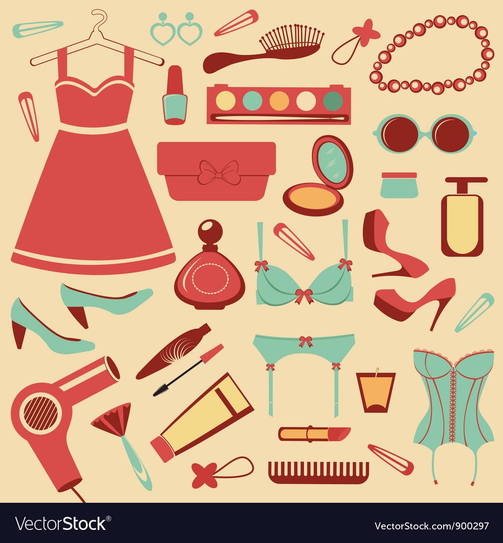 Fashionable set vector | Price: 3 Credit (USD $3)