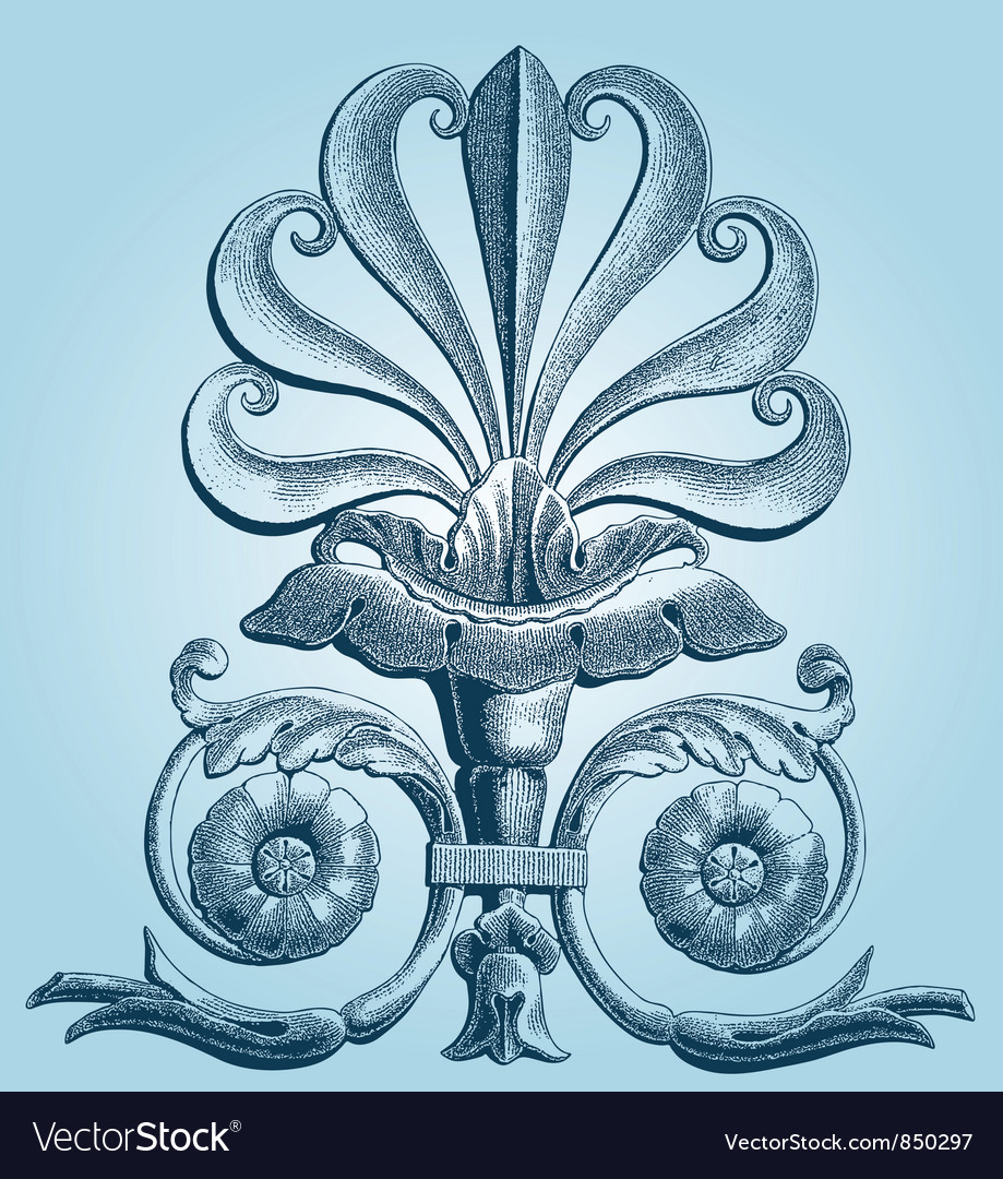 Fleur de lis pattern vector | Price: 1 Credit (USD $1)