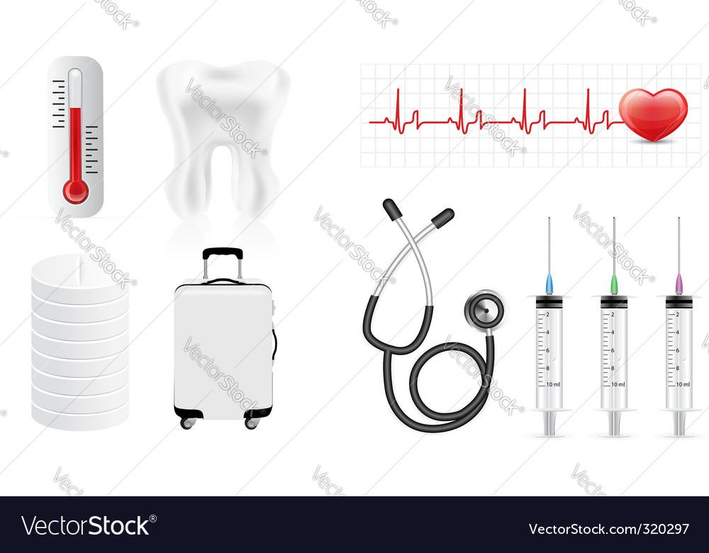 Medicine icon set vector | Price: 1 Credit (USD $1)