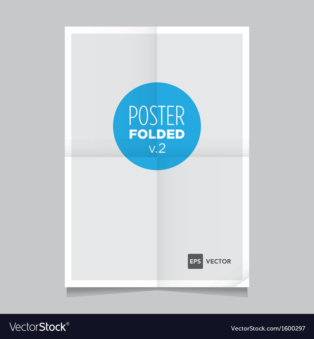 Poster two fold vector | Price: 1 Credit (USD $1)