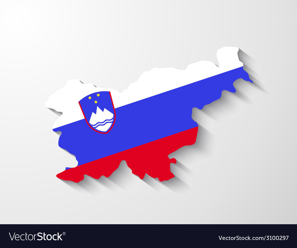 Slovenia map with shadow effect presentation vector | Price: 1 Credit (USD $1)