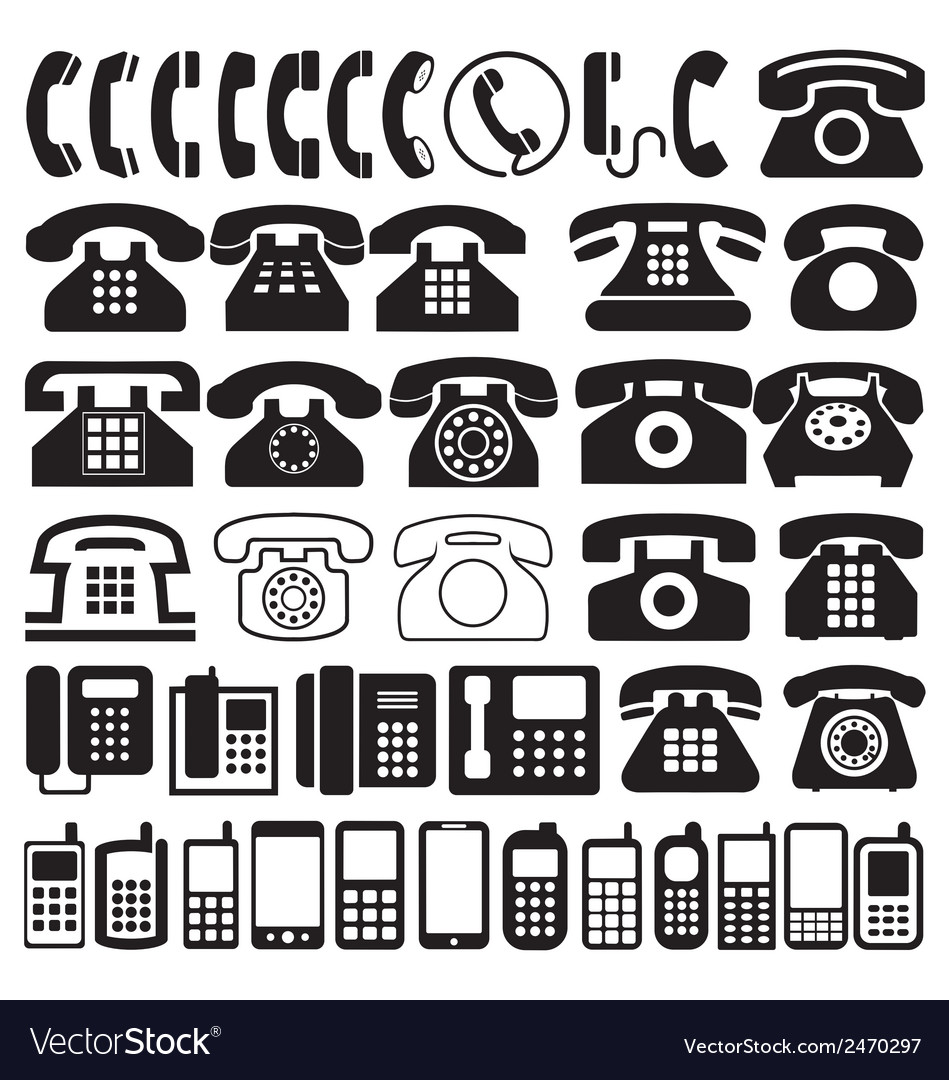 Telephone icons vector | Price: 1 Credit (USD $1)