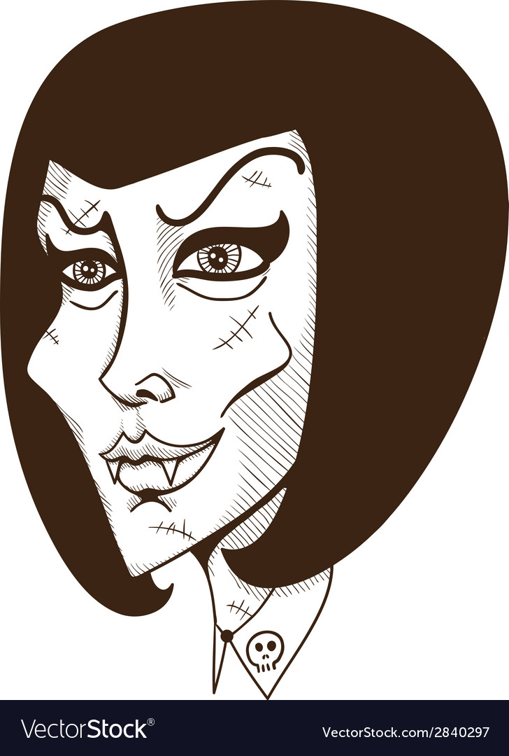 Woman witch face vector | Price: 1 Credit (USD $1)