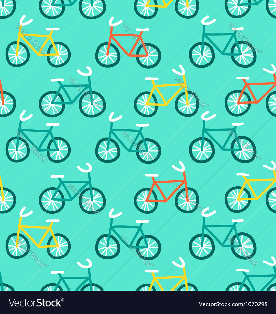 Bicycles pattern vector | Price: 1 Credit (USD $1)