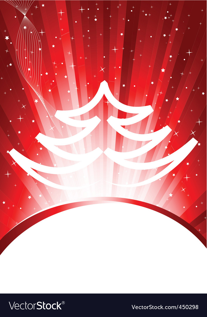 Christmas background with tree vector | Price: 1 Credit (USD $1)