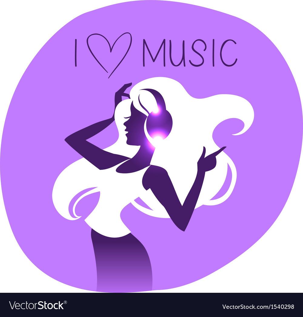 Dance girl silhouette vector   Price: 1 Credit (USD $1)