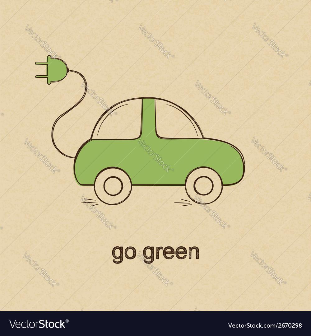 Eco friendly car vector   Price: 1 Credit (USD $1)