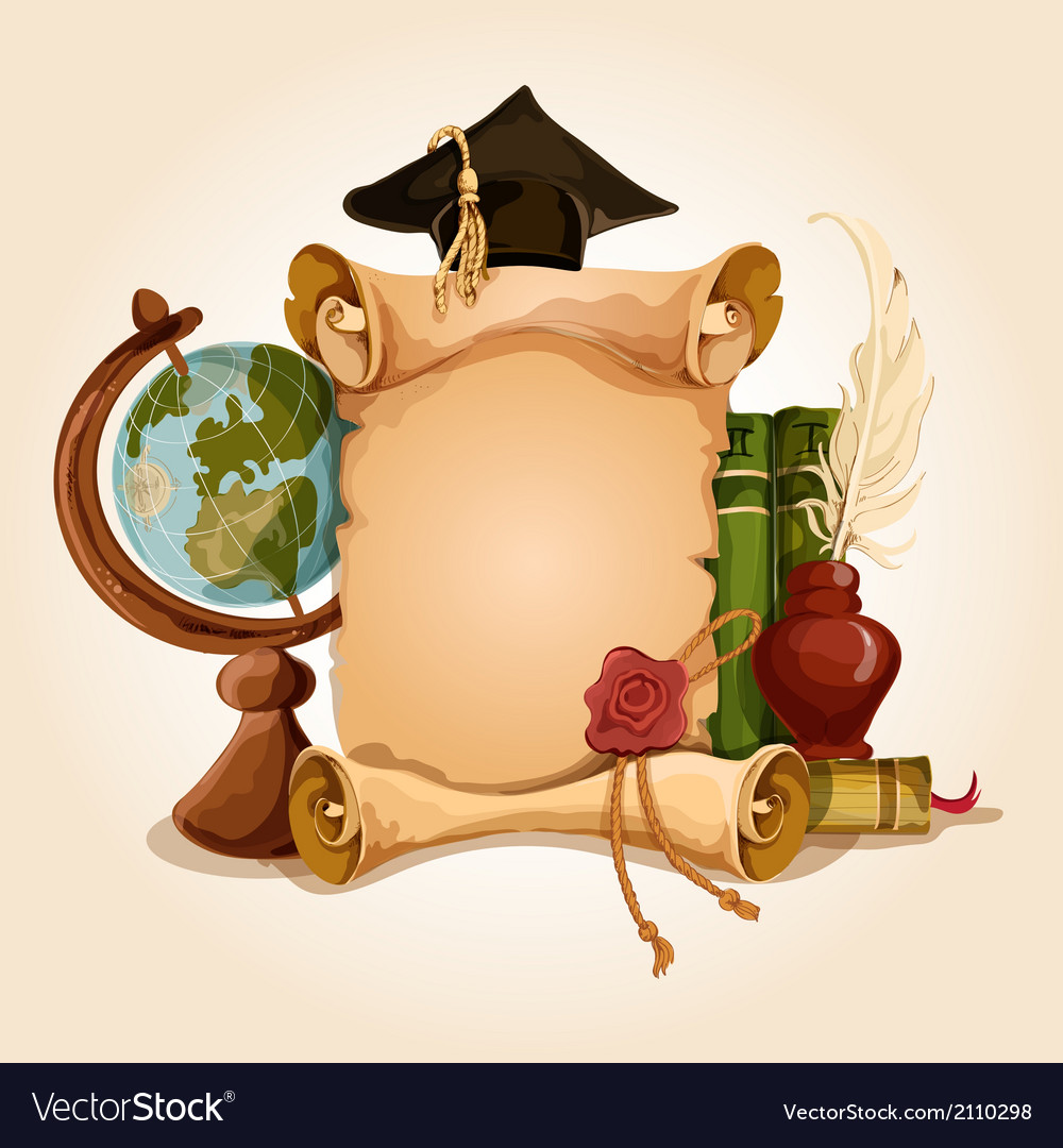 Graduation diploma old style vector | Price: 3 Credit (USD $3)