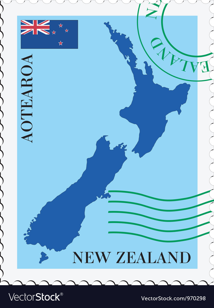 Mail to-from new zealand vector | Price: 1 Credit (USD $1)