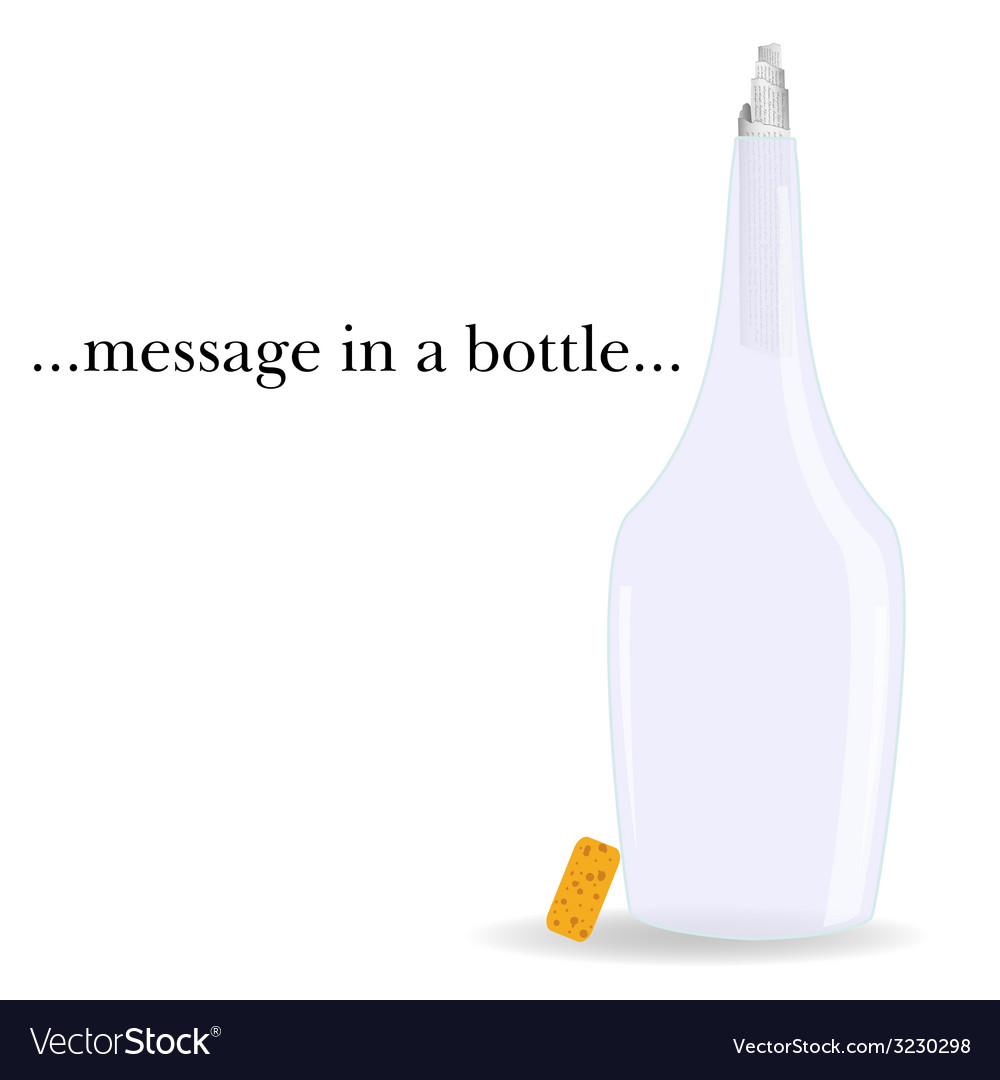 Message in a bottle vector | Price: 1 Credit (USD $1)