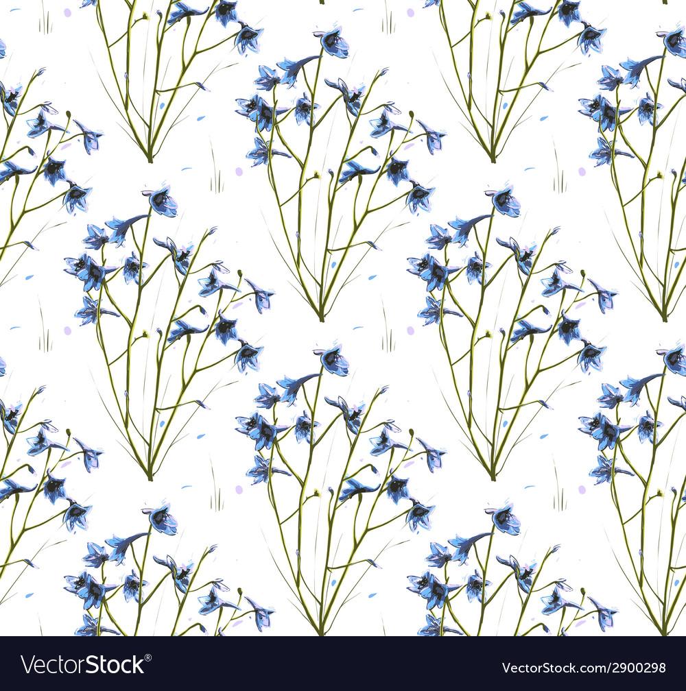 Romantic wild flowers seamless pattern vector   Price: 1 Credit (USD $1)