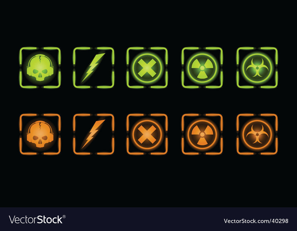Set of industrial icons vector | Price: 1 Credit (USD $1)