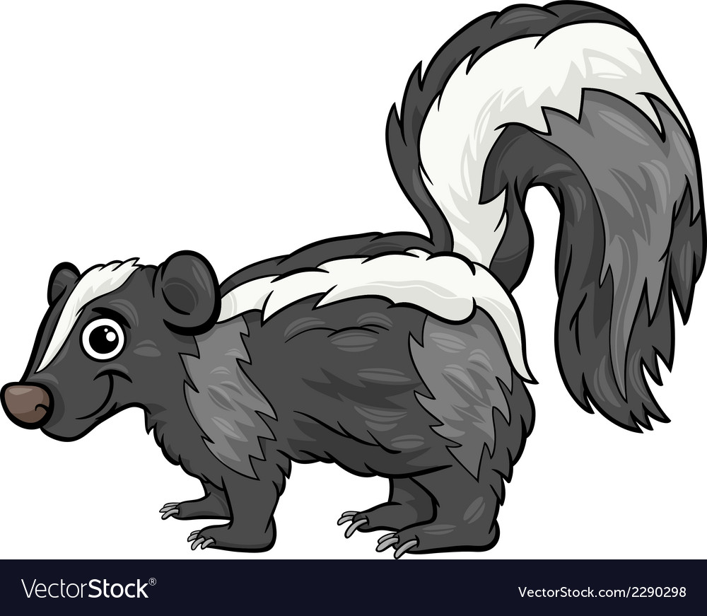 Skunk animal cartoon vector | Price: 1 Credit (USD $1)