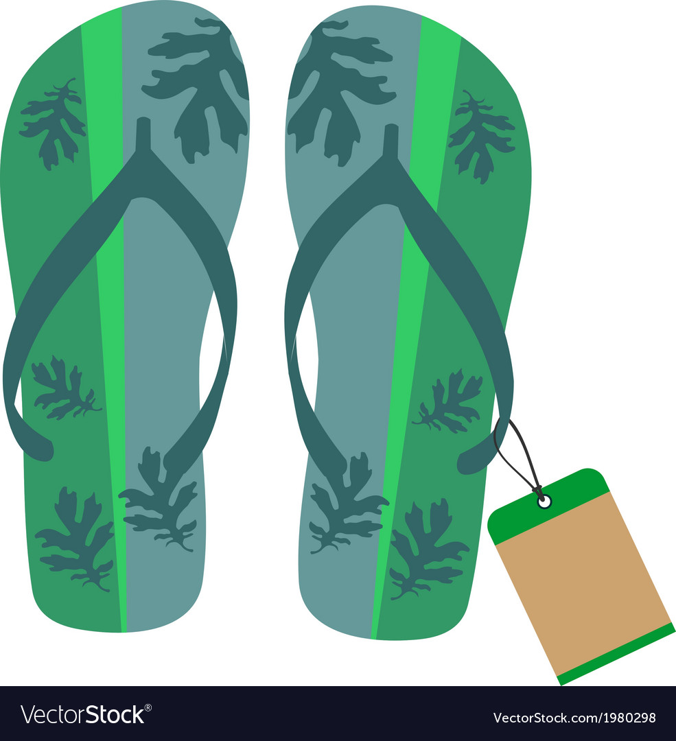 Slippers with tag vector | Price: 1 Credit (USD $1)