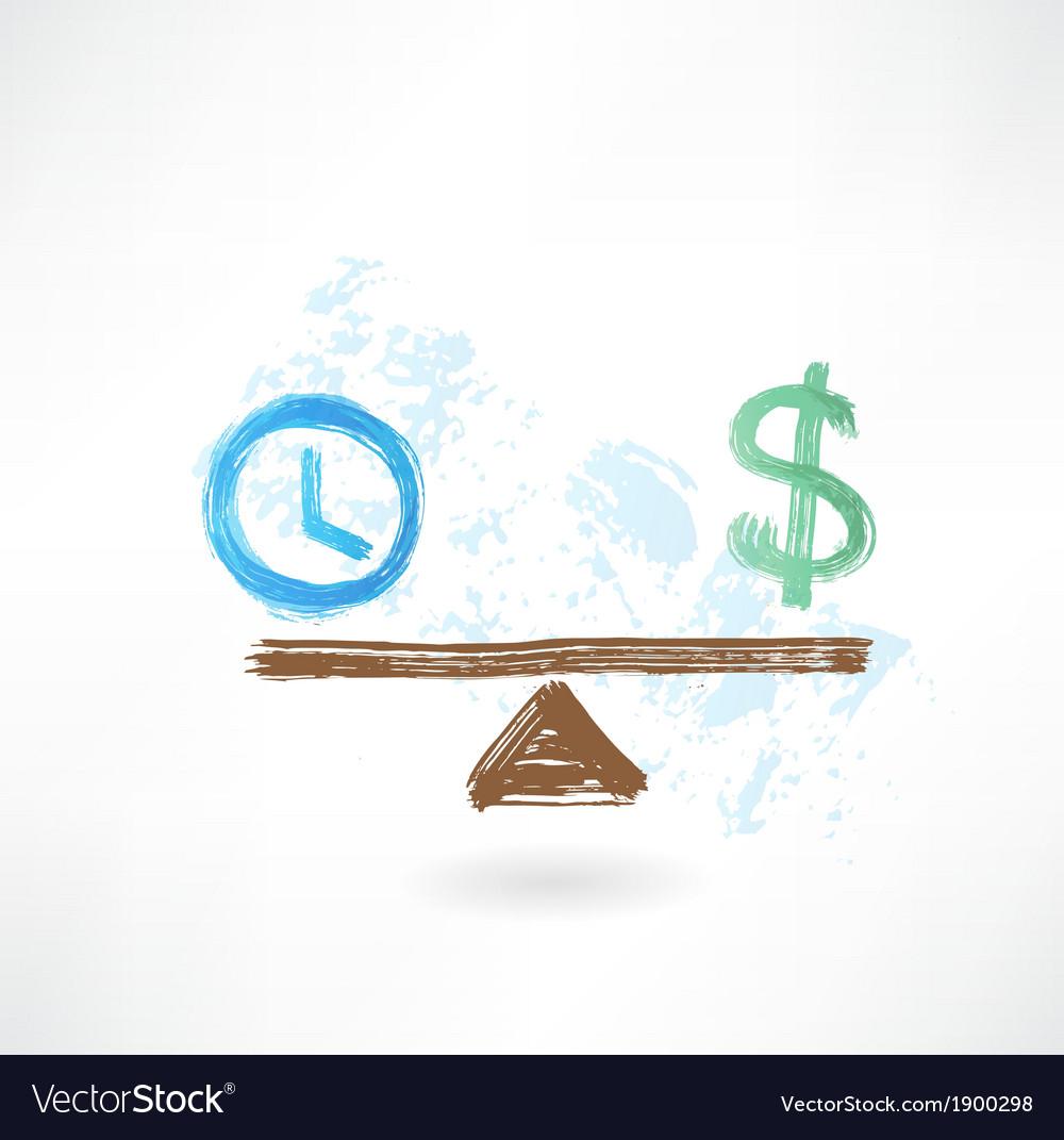 Time money balance vector | Price: 1 Credit (USD $1)