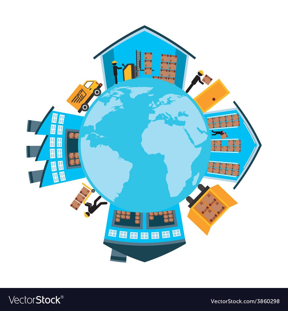 Transport of goods vector | Price: 1 Credit (USD $1)
