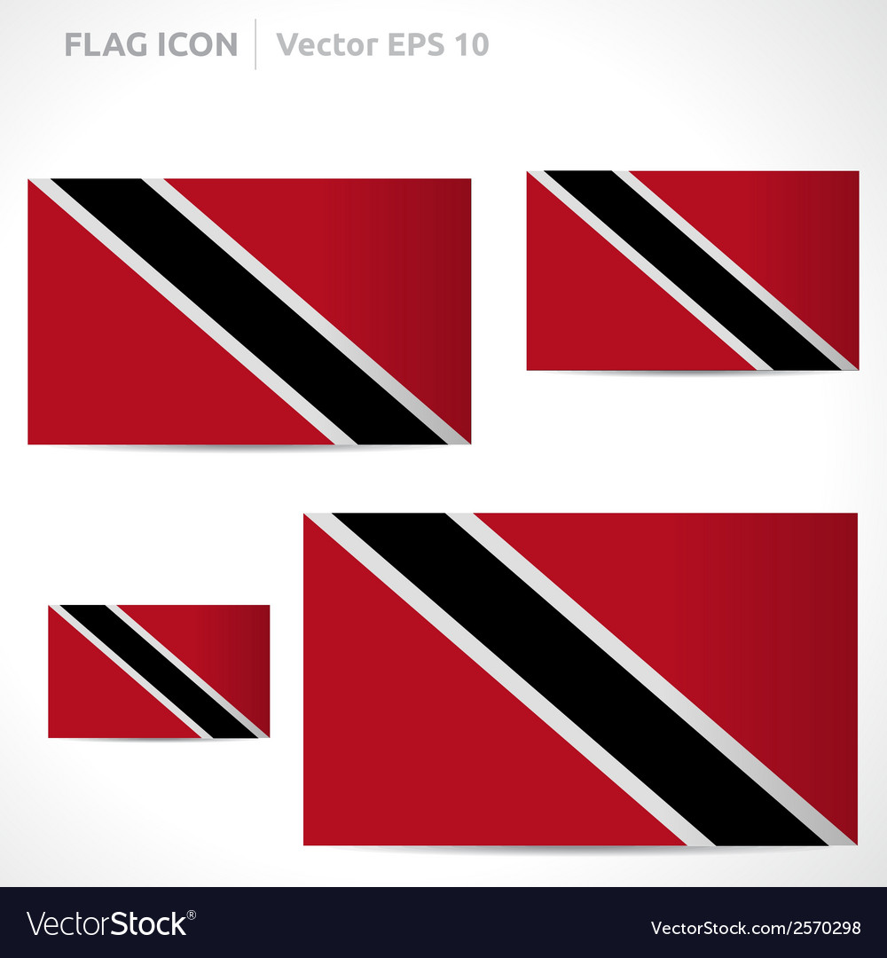 Trinidad and tobago flag template vector | Price: 1 Credit (USD $1)
