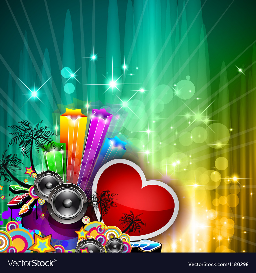 Valentines day party invitation flyer vector | Price: 1 Credit (USD $1)