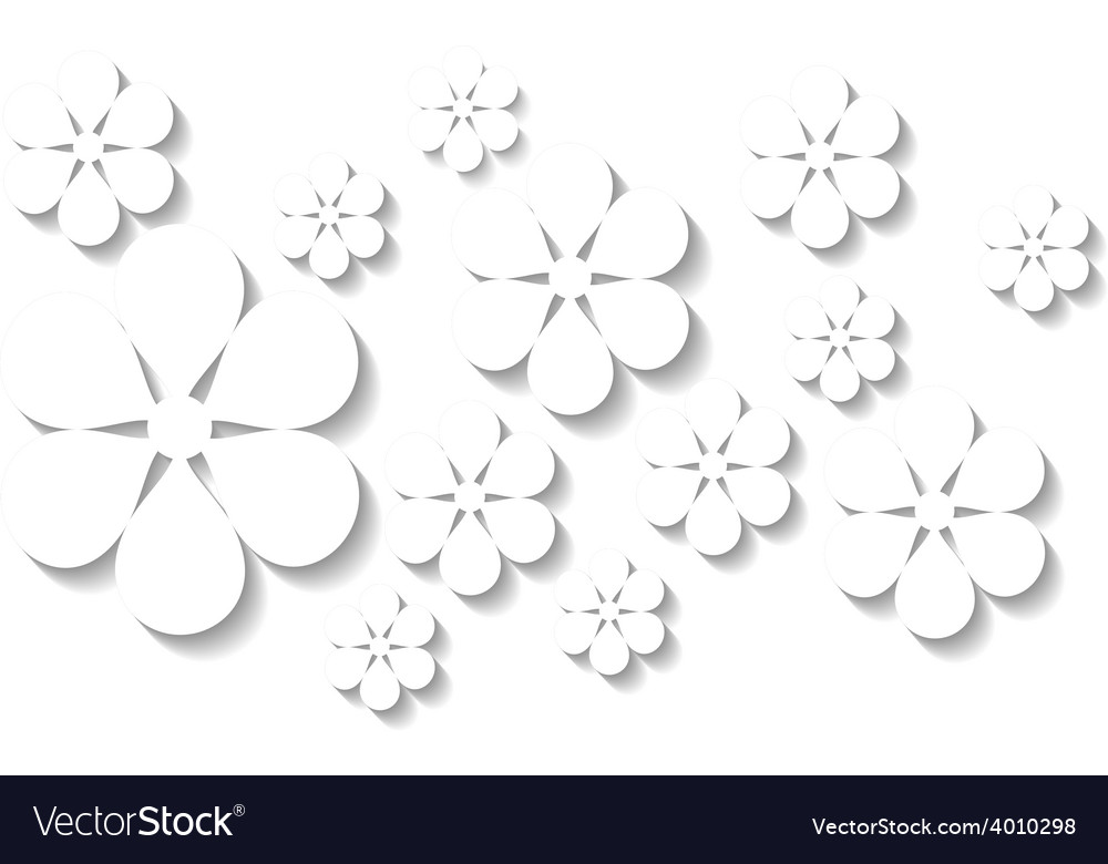 White floral background vector   Price: 1 Credit (USD $1)