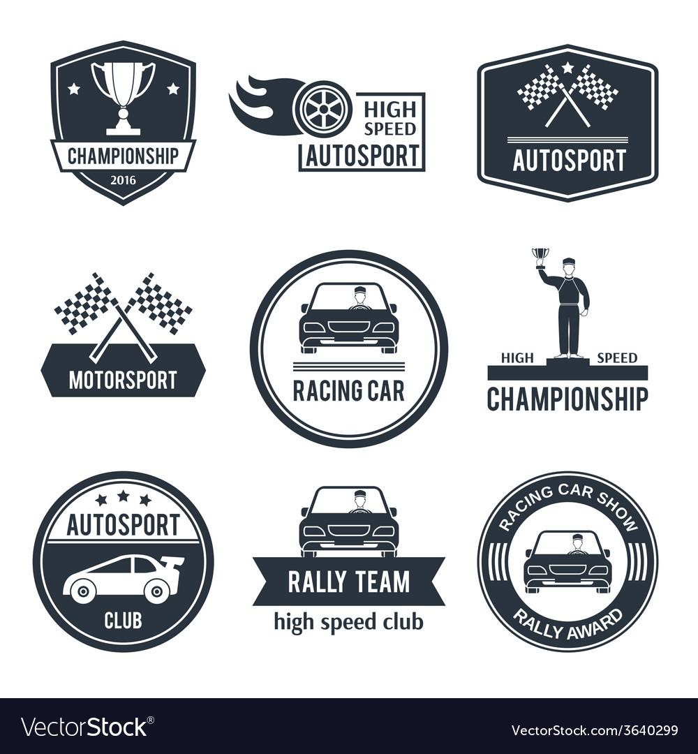 Auto sport label vector | Price: 1 Credit (USD $1)