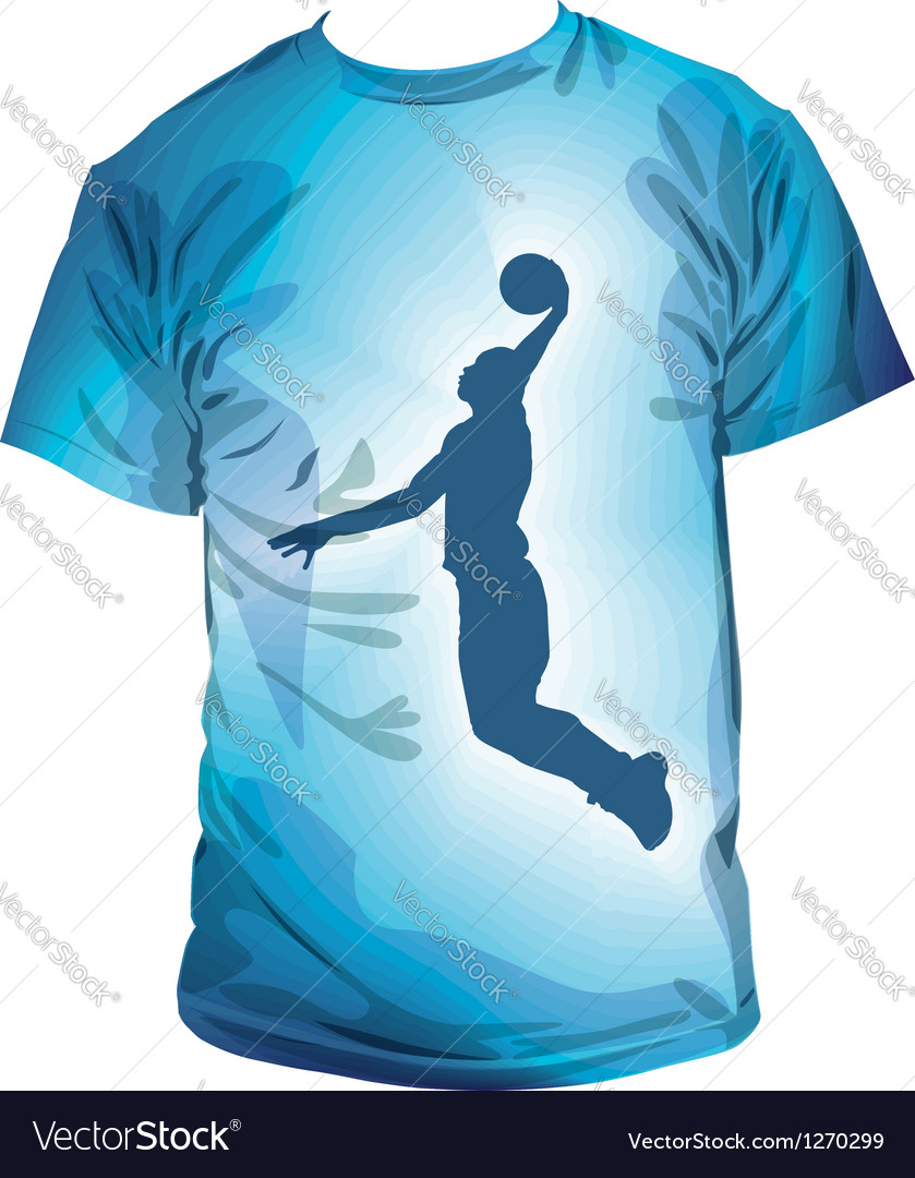 Basketball t-shirt vector | Price: 1 Credit (USD $1)