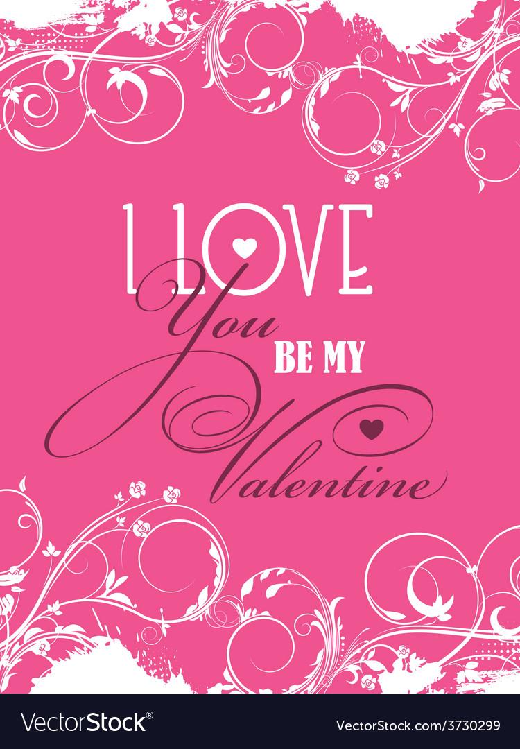 Be my valentine background vector | Price: 1 Credit (USD $1)