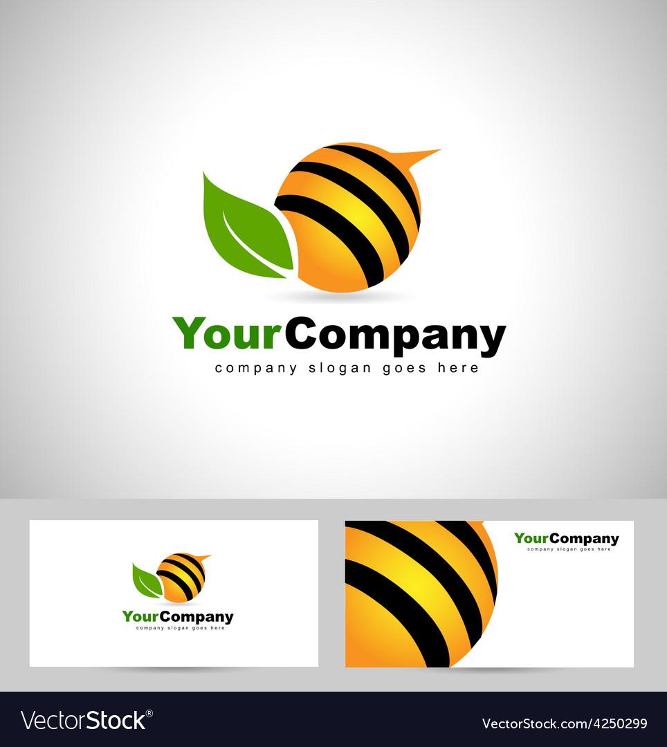 Bee logo design concept vector | Price: 1 Credit (USD $1)