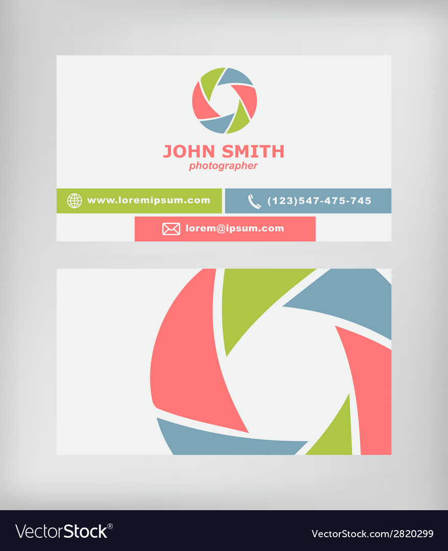 Business card photographer vector | Price: 1 Credit (USD $1)