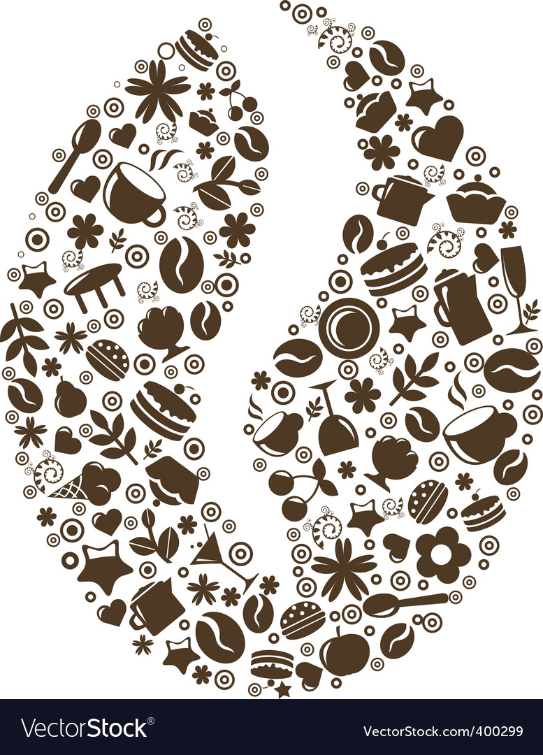 Coffee bean design vector | Price: 1 Credit (USD $1)