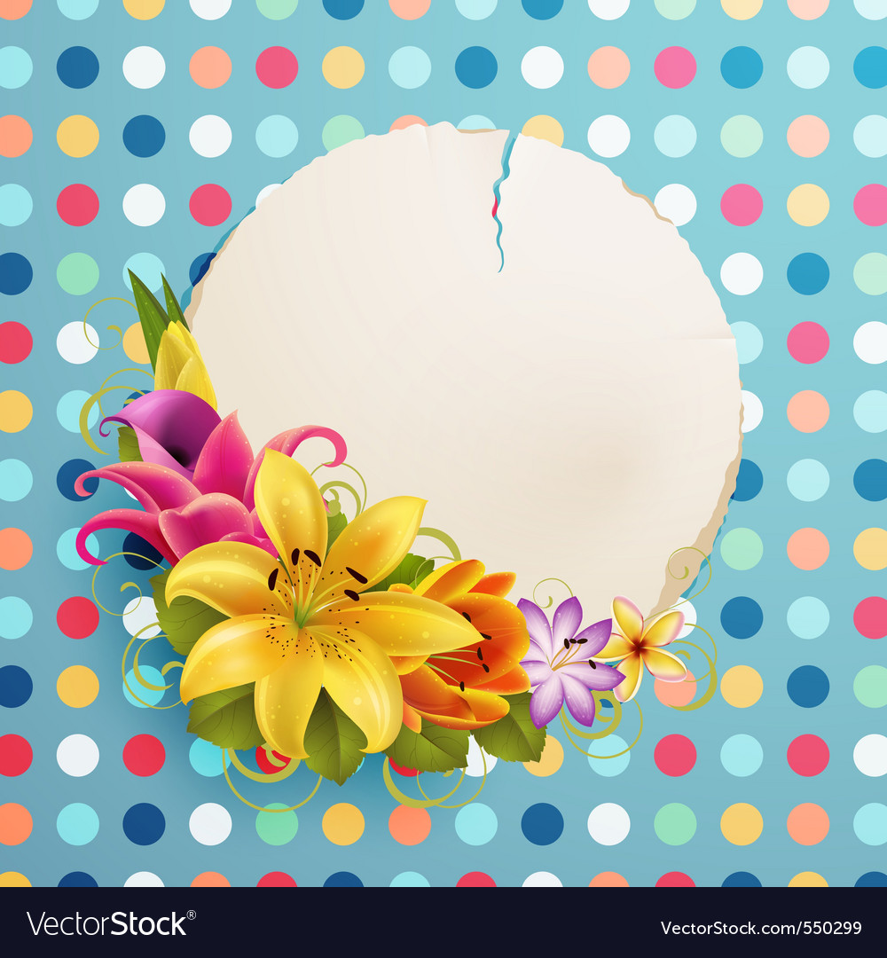Flower background vector | Price: 3 Credit (USD $3)
