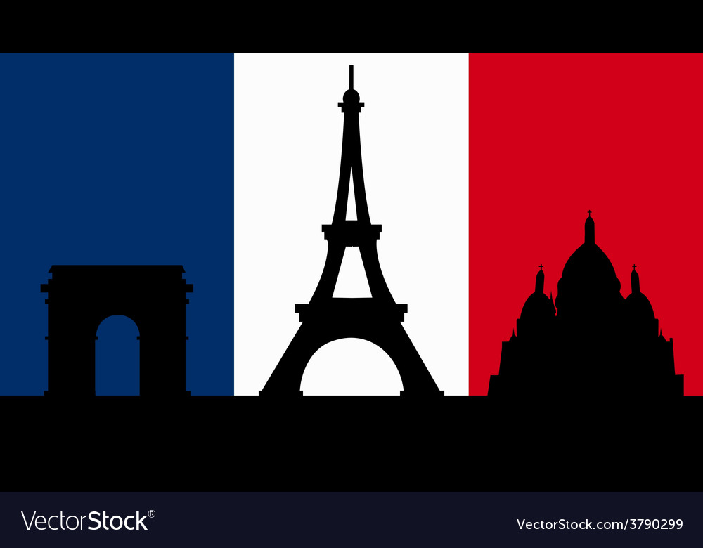 French design with paris flag vector | Price: 1 Credit (USD $1)