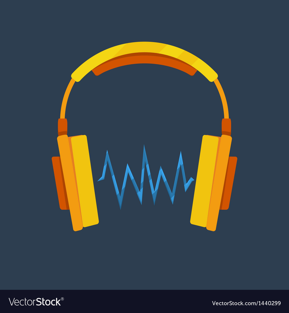 Headphones icon vector | Price: 1 Credit (USD $1)