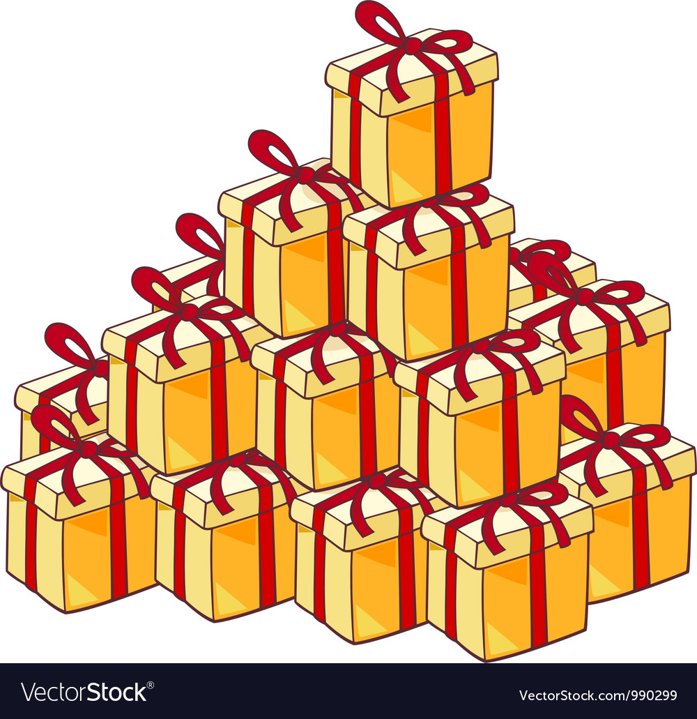 Heap of christmas presents vector | Price: 3 Credit (USD $3)