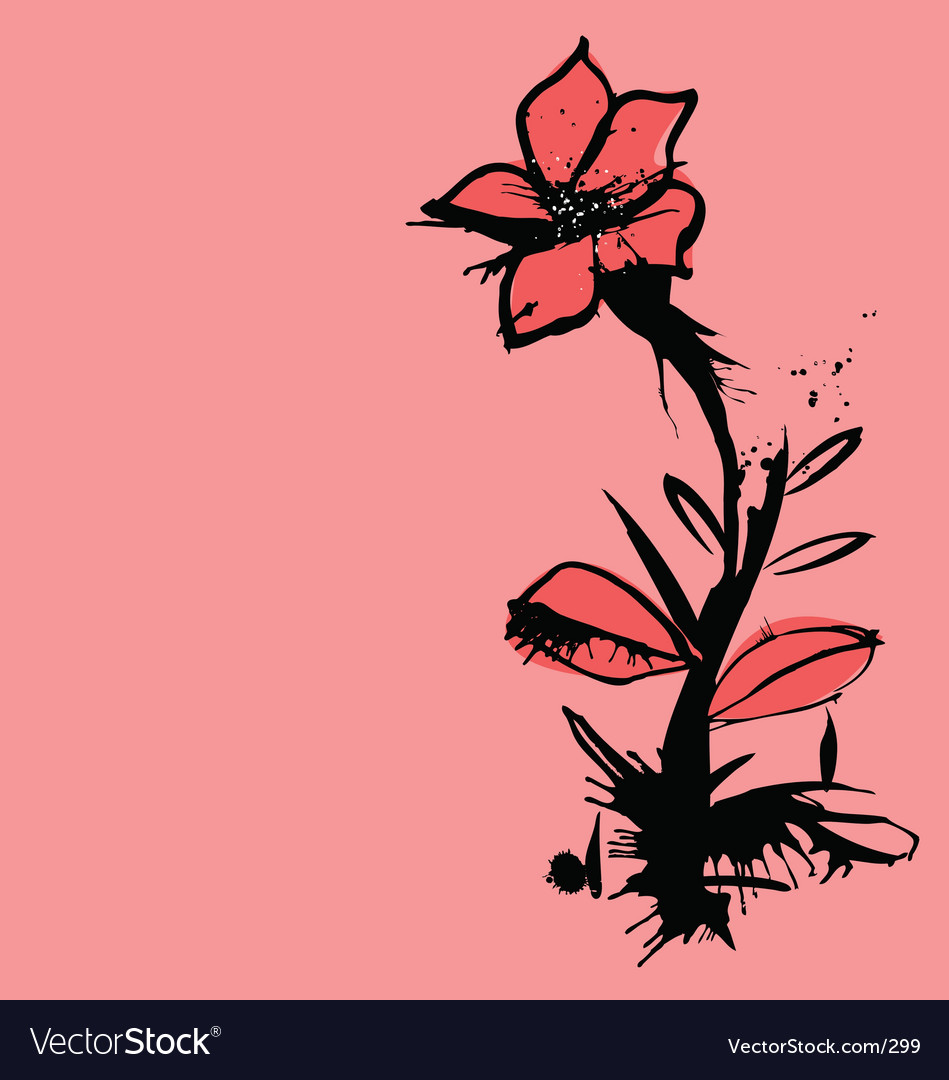 Ink flower vector | Price: 3 Credit (USD $3)